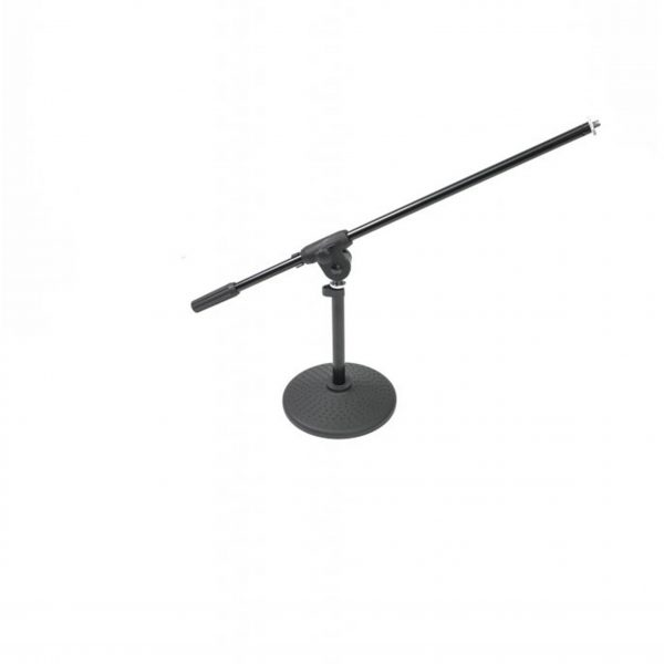 Athletic Desktop Mic Stand W Adjust Boom Steel Abs Tv Audio